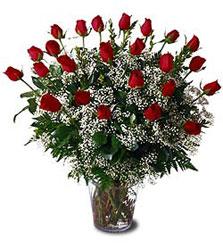 İzmir Konak çiçek mağazası , çiçekçi adresleri  Cam yada mika vazo içerisinde 15 adet kirmizi güller,cipsofi