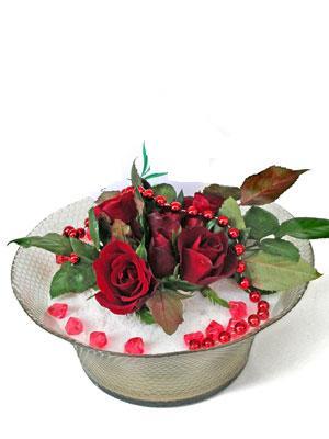 İzmir Konak online çiçekçi , çiçek siparişi  EN ÇOK Sevenlere 7 adet kirmizi gül mika yada cam tanzim