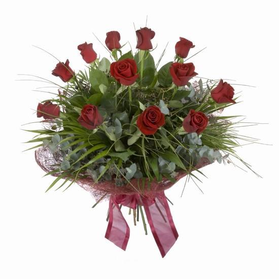 Etkileyici buket 11 adet kirmizi gül buketi  İzmir Konak kaliteli taze ve ucuz çiçekler