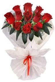 11 adet gül buketi  İzmir Konak yurtiçi ve yurtdışı çiçek siparişi  kirmizi gül