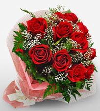 12 adet kırmızı güllerden kaliteli gül  İzmir Konak online çiçekçi , çiçek siparişi