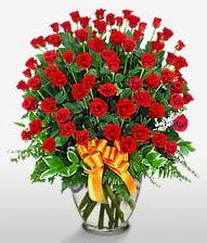 Görsel vazo içerisinde 101 adet gül  İzmir Konak İnternetten çiçek siparişi