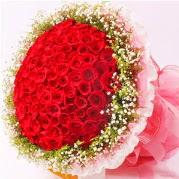 101 adet kırmızı gülden buket  İzmir Konak İnternetten çiçek siparişi