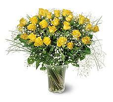 İzmir Konak çiçek mağazası , çiçekçi adresleri  15 adet sarigül mika yada cam vazoda