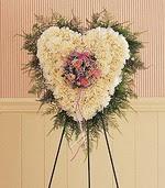 İzmir Konak çiçek mağazası , çiçekçi adresleri  kalp pano beyaz karanfillerden