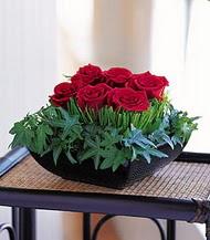 İzmir Konak çiçek mağazası , çiçekçi adresleri  10 adet kare mika yada cam vazoda gül tanzim