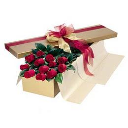 İzmir Konak çiçek gönderme sitemiz güvenlidir  10 adet kutu özel kutu
