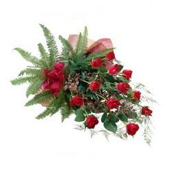 İzmir Konak çiçek yolla , çiçek gönder , çiçekçi   10 adet kirmizi gül özel buket çiçek siparisi