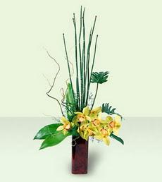 İzmir Konak çiçek mağazası , çiçekçi adresleri   cam yada mika Vazoda dal orkide tanzim