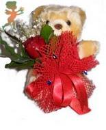 oyuncak ayi ve gül tanzim  İzmir Konak çiçek mağazası , çiçekçi adresleri