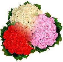 3 renkte gül seven sever   İzmir Konak anneler günü çiçek yolla