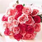 11 adet renkli gül buketi   İzmir Konak ucuz çiçek gönder
