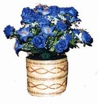 yapay mavi çiçek sepeti  İzmir Konak çiçek gönderme sitemiz güvenlidir