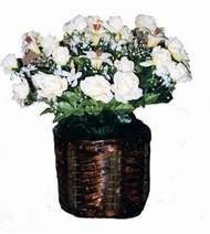 yapay karisik çiçek sepeti   İzmir Konak İnternetten çiçek siparişi
