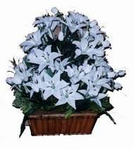yapay karisik çiçek sepeti   İzmir Konak çiçek yolla , çiçek gönder , çiçekçi