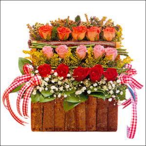 sandikta 3 kat güllerden   İzmir Konak çiçek gönderme sitemiz güvenlidir