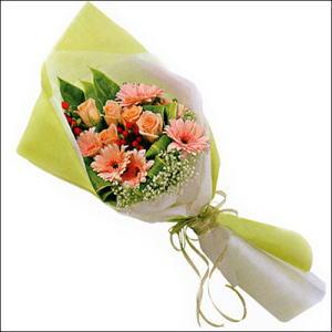 sade güllü buket demeti  İzmir Konak çiçek servisi , çiçekçi adresleri
