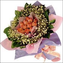 11  adet  gül ve   elyaflar   İzmir Konak çiçek servisi , çiçekçi adresleri
