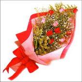 12 adet renkli  gül buketi   İzmir Konak çiçek servisi , çiçekçi adresleri