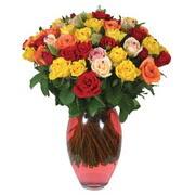 51 adet gül ve kaliteli vazo   İzmir Konak online çiçek gönderme sipariş