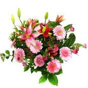 lilyum ve gerbera çiçekleri - çiçek seçimi -  İzmir Konak cicekciler , cicek siparisi