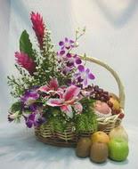 orkide kazablanka ve sepet  İzmir Konak cicek , cicekci
