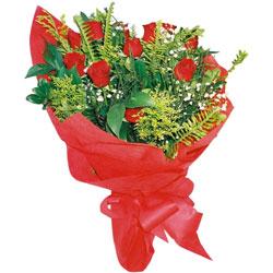 11 adet gül buketi sade ve görsel  İzmir Konak çiçek gönderme sitemiz güvenlidir