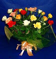 İzmir Konak çiçek online çiçek siparişi  13 adet karisik renkli güller