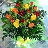 13 adet karisik gül buketi demeti   İzmir Konak çiçek yolla