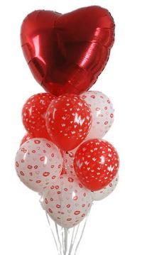 Sevdiklerinize 17 adet uçan balon demeti yollayin.   İzmir Konak çiçek mağazası , çiçekçi adresleri