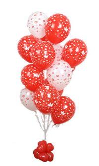 Sevdiklerinize 17 adet uçan balon demeti yollayin.  İzmir Konak kaliteli taze ve ucuz çiçekler