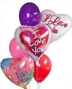İzmir Konak kaliteli taze ve ucuz çiçekler  Sevdiklerinize 17 adet uçan balon demeti yollayin.