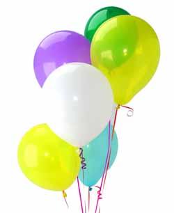 İzmir Konak çiçek siparişi vermek  Sevdiklerinize 17 adet uçan balon demeti yollayin.