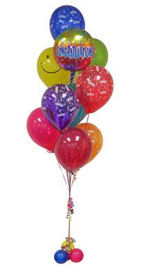 İzmir Konak online çiçek gönderme sipariş  Sevdiklerinize 17 adet uçan balon demeti yollayin.