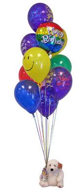 İzmir Konak uluslararası çiçek gönderme  Sevdiklerinize 17 adet uçan balon demeti yollayin.