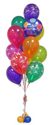 İzmir Konak 14 şubat sevgililer günü çiçek  Sevdiklerinize 17 adet uçan balon demeti yollayin.
