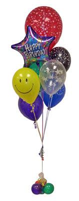 İzmir Konak anneler günü çiçek yolla  Sevdiklerinize 17 adet uçan balon demeti yollayin.