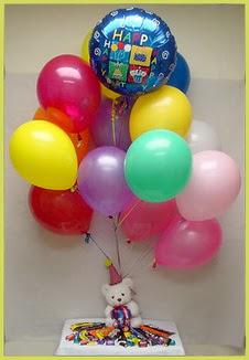 İzmir Konak çiçek servisi , çiçekçi adresleri  Sevdiklerinize 17 adet uçan balon demeti yollayin.