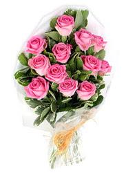 İzmir Konak internetten çiçek satışı  12 li pembe gül buketi.