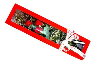 İzmir Konak çiçek online çiçek siparişi  Kutuda 3 adet gül