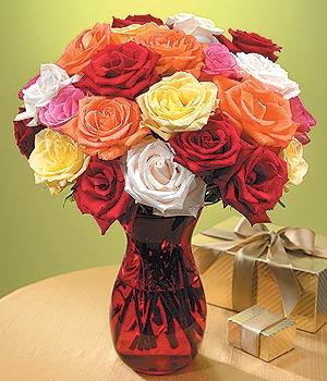 İzmir Konak çiçekçi telefonları  13 adet renkli gül