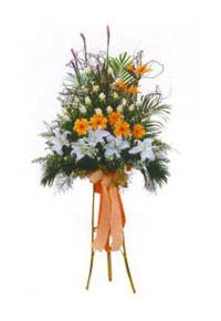 İzmir Konak hediye çiçek yolla  Kazablanka, gerbera ve güllerle hazirlanmis ferfor