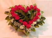 İzmir Konak güvenli kaliteli hızlı çiçek  Kalp seklinde hazirlanmis gül tanzimi