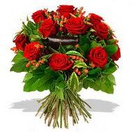 9 adet kirmizi gül ve kir çiçekleri  İzmir Konak kaliteli taze ve ucuz çiçekler
