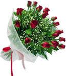 İzmir Konak kaliteli taze ve ucuz çiçekler  11 adet kirmizi gül buketi sade ve hos sevenler