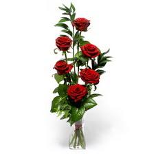 İzmir Konak çiçek yolla  mika yada cam vazoda 6 adet essiz gül