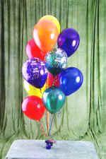 İzmir Konak İnternetten çiçek siparişi  19 adet uçan balon demeti balonlar