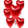 İzmir Konak çiçekçiler  17 adet FOLYO kalp görünümünde uçan balon