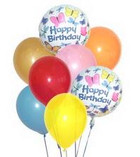 İzmir Konak çiçek online çiçek siparişi  17 adet karisik renkte uçan balonlar