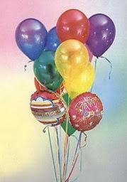 İzmir Konak çiçek , çiçekçi , çiçekçilik  19 adet karisik renkte uçan balon buketi